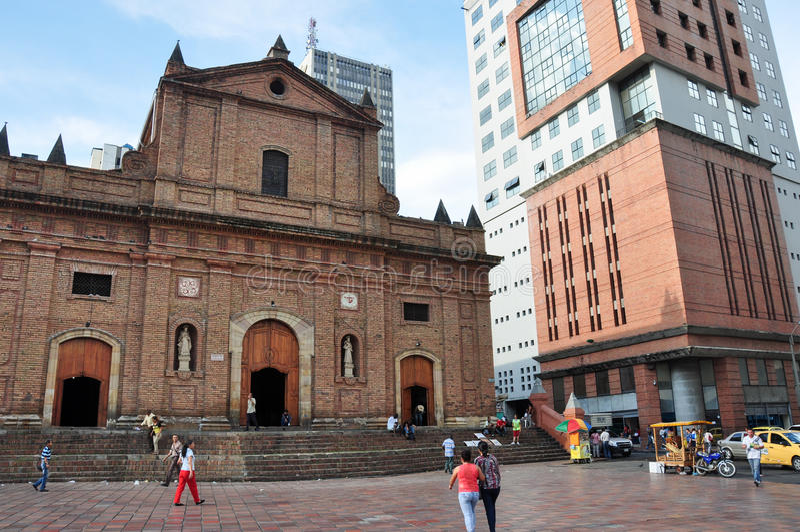 Uma igreja em Cali, Colômbia imagens de stock royalty free