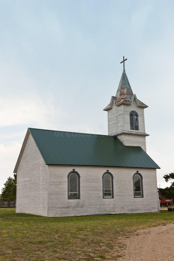 Igreja velha da pradaria imagens de stock royalty free