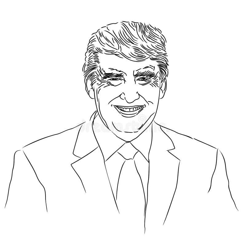 Uma ilustração abstrata de Donald Trump ilustração royalty free