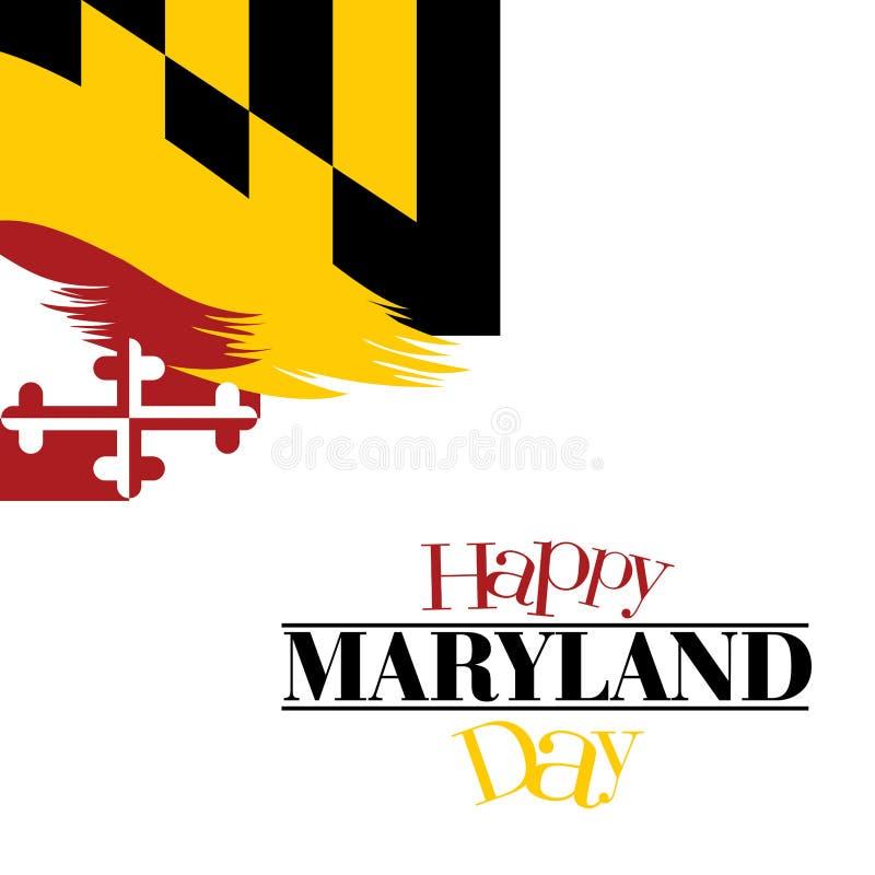 Uma ilustração abstrata do dia feliz de Maryland em sua bandeira colore o fundo ilustração do vetor
