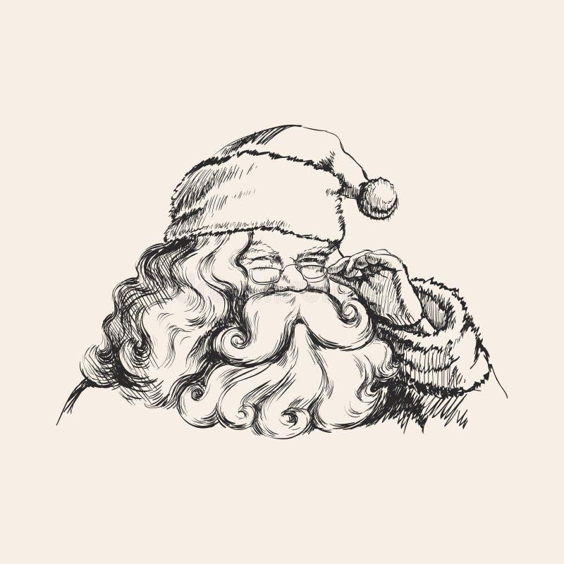 Uma ilustração de sorriso de Santa Claus Portrait Vetora ilustração royalty free