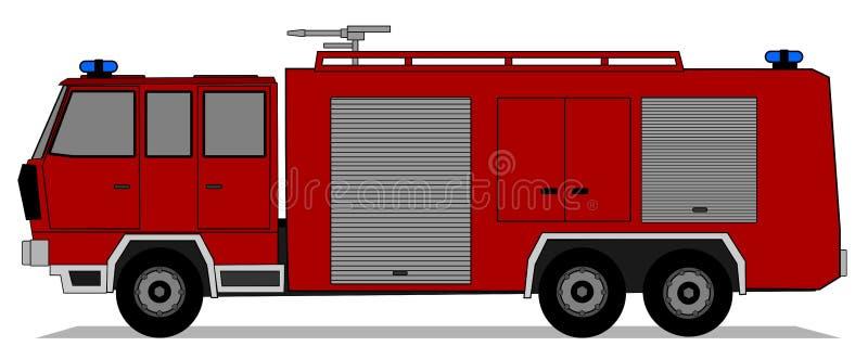 Carro de bombeiros ilustração stock