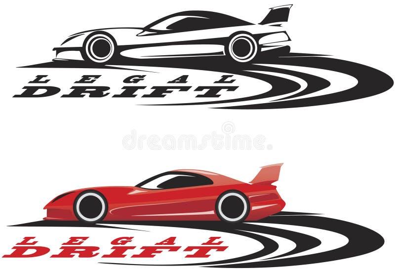 emblema do carro desportivo ilustração stock