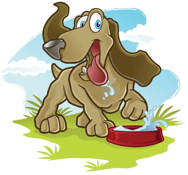 Cão feliz ilustração do vetor