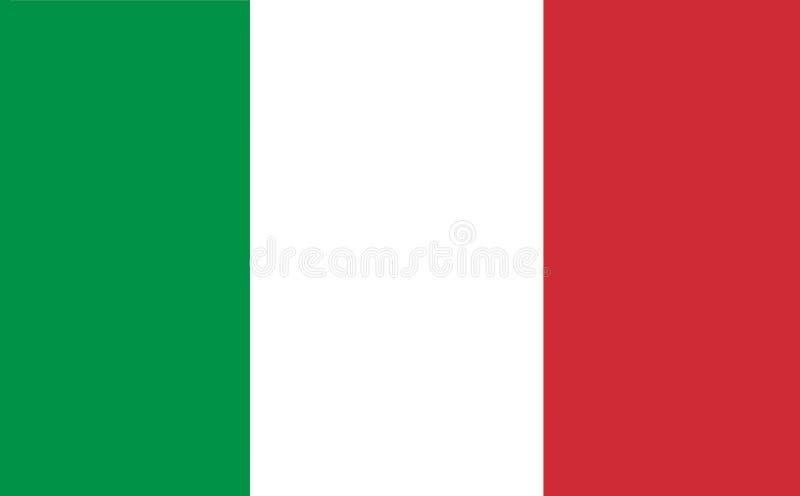 Uma ilustração gerada por computador dos gráficos da bandeira de Itália ilustração royalty free
