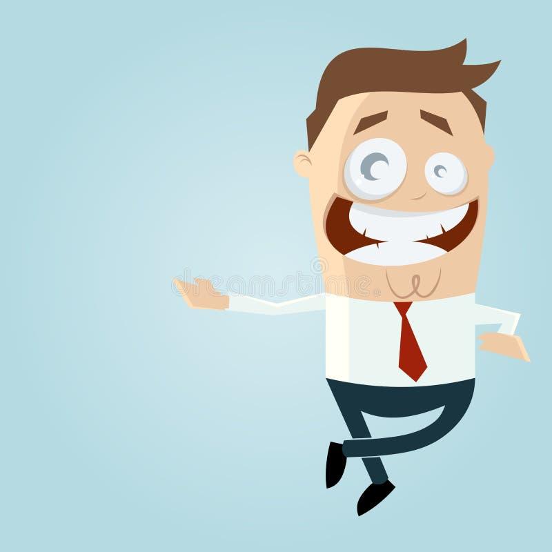 Homem Relaxed dos desenhos animados ilustração stock