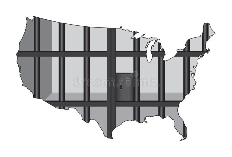 Download EUA - O Capital Da Prisão Do Mundo Ilustração Stock - Ilustração de justiça, prisão: 29837281