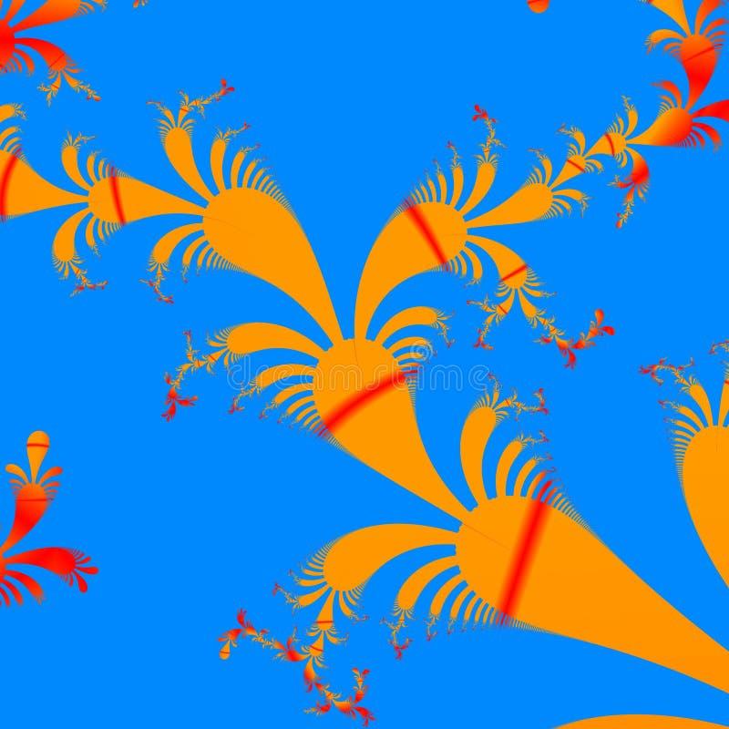 Uma imagem criada usando a computação gráfica, uma imagem de um objeto matemático chamou um fractal ilustração do vetor
