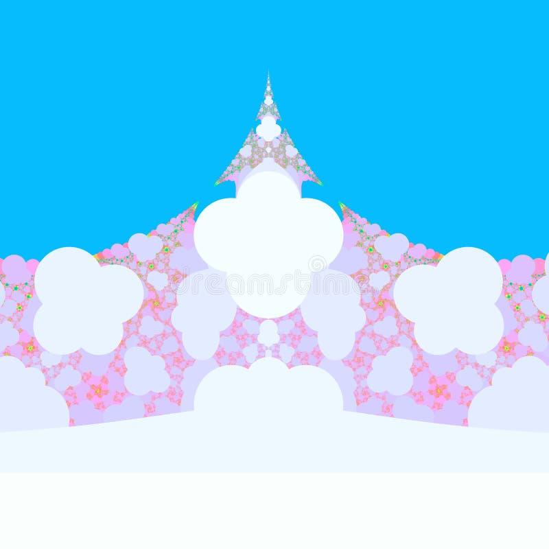 Uma imagem criada usando a computação gráfica, uma imagem de um objeto matemático chamou um fractal ilustração royalty free