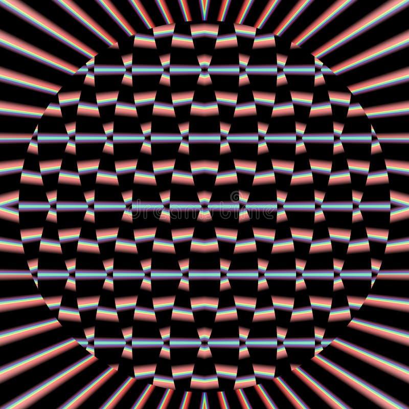 Uma imagem criada usando a computação gráfica, uma imagem de um objeto matemático chamou um fractal ilustração stock