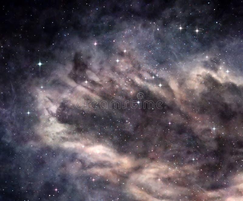 Nebulosa escura no espaço profundo imagens de stock royalty free