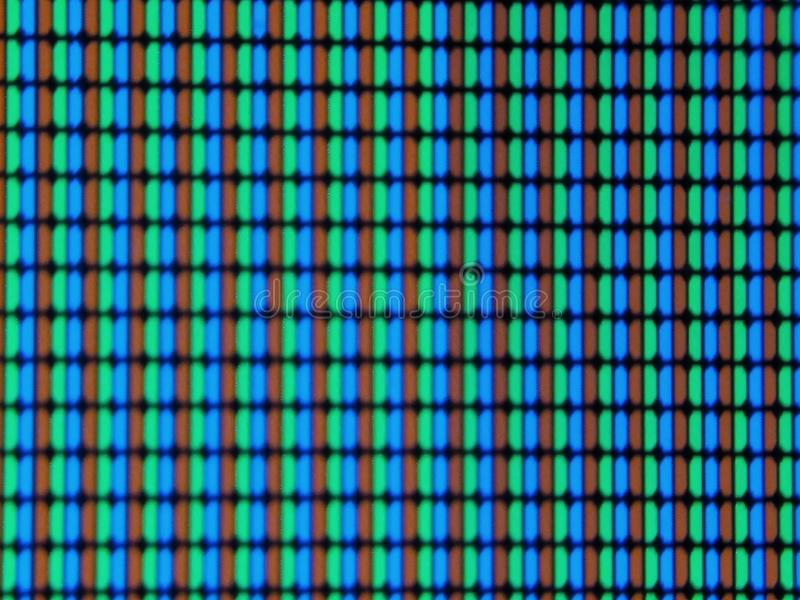 Uma imagem de pixéis da tela da tevê, foto de stock royalty free