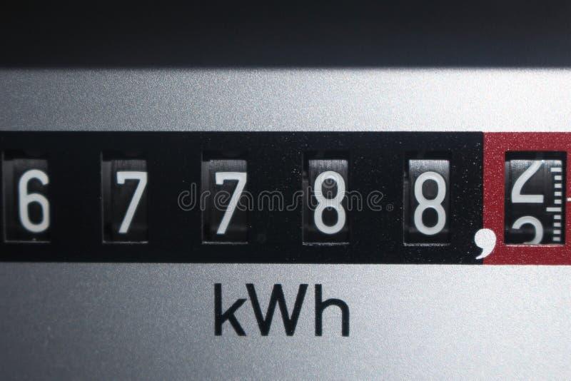 Uma imagem de um contador da eletricidade, energia fotografia de stock