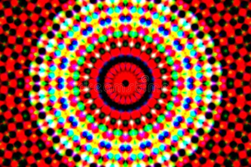 Uma imagem macia de algum fora da iluminação de néon do foco ilustração do vetor