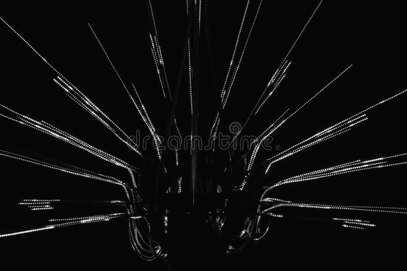 Uma imagem preto e branco do objeto geométrico abstrato foto de stock