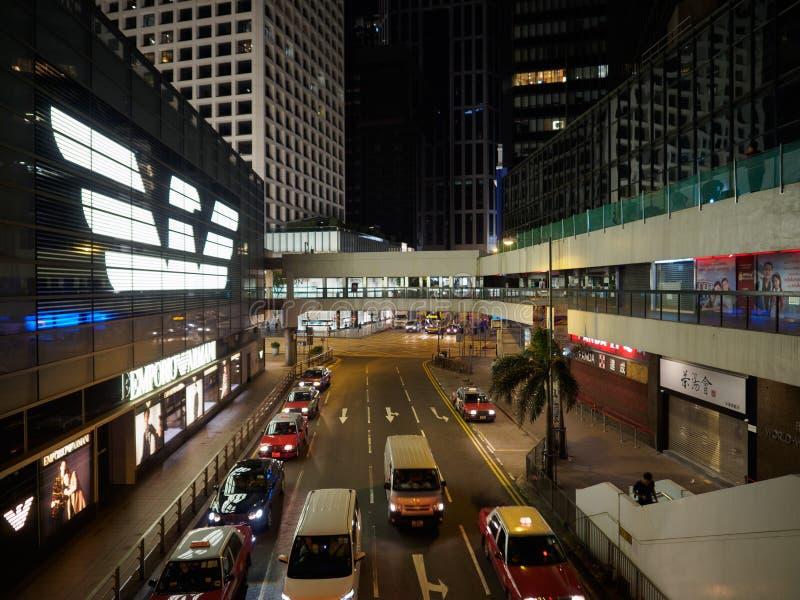 Uma imagem tomada na noite do lugar de Connaught em Hong Kong imagens de stock