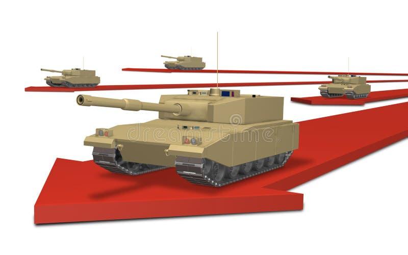 Uma invasão militar ilustração do vetor
