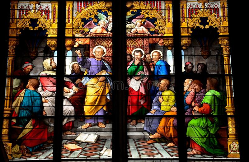Arte finala do vitral de St Peter