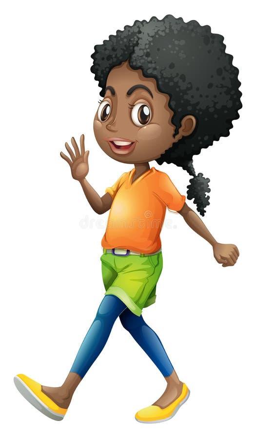 Uma jovem senhora encaracolado ilustração stock