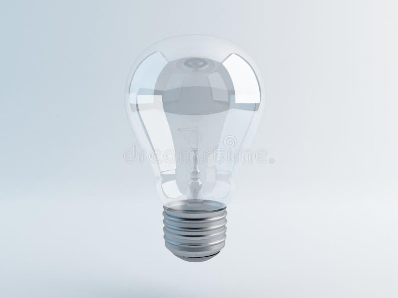 Uma lâmpada no fundo cinzento foto de stock