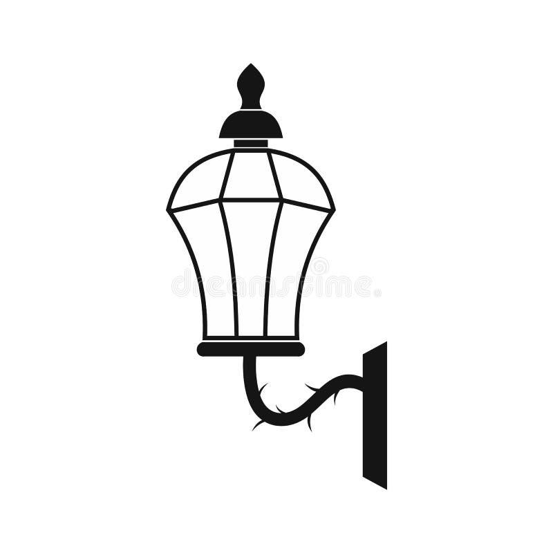 Uma lâmpada velha no ícone de Londres, estilo simples ilustração do vetor