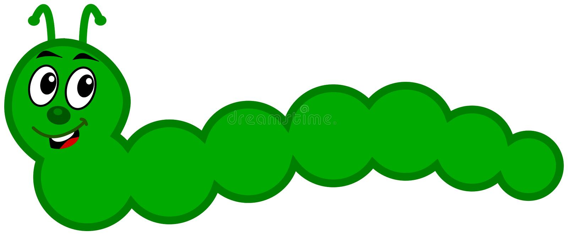Uma lagarta verde ilustração do vetor