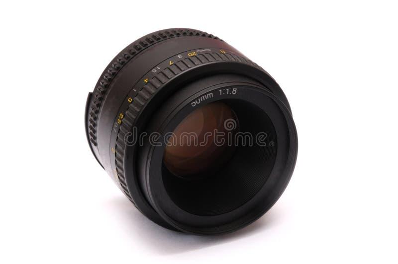 Uma lente principal rápida com anel da abertura foto de stock royalty free