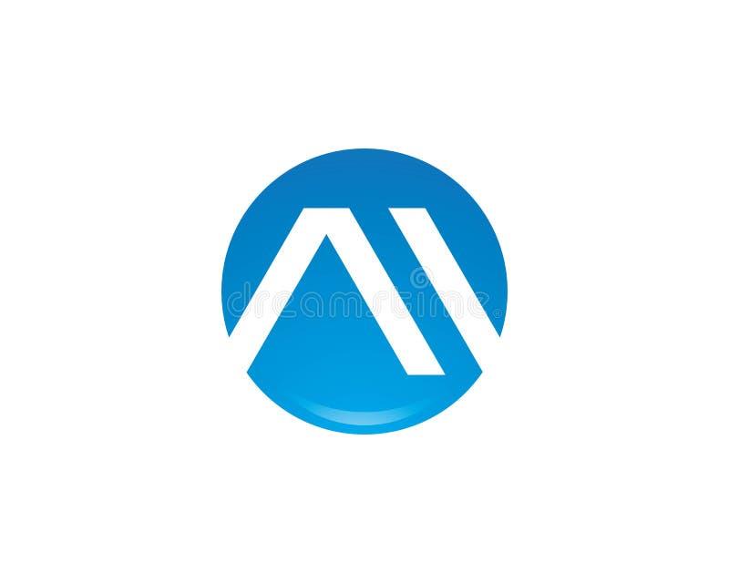 Uma letra Logo Busines ilustração stock