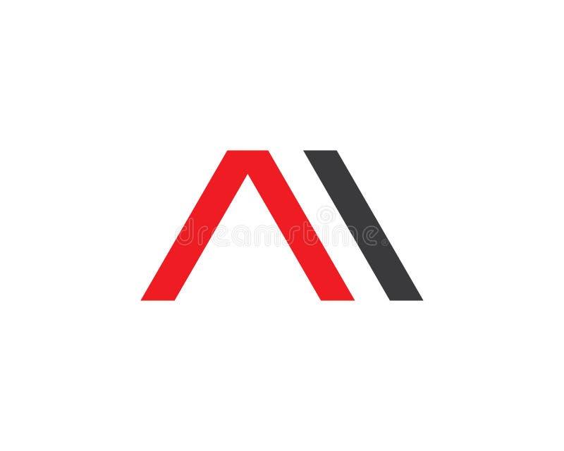 Uma letra Logo Busines ilustração do vetor
