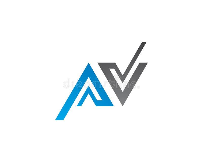 Uma letra Logo Business de V ilustração do vetor