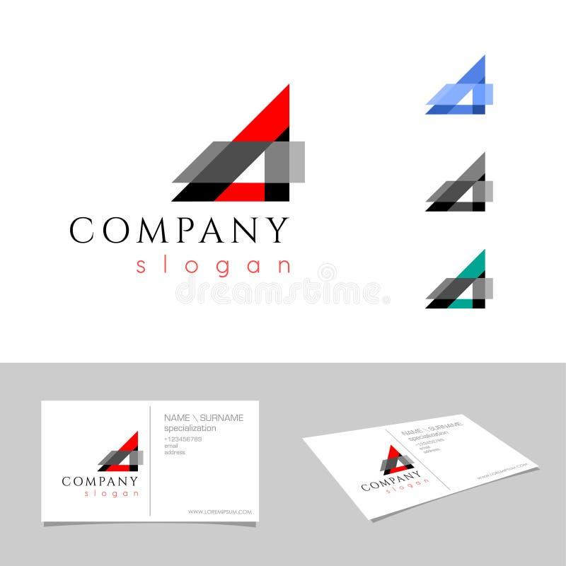 Uma letra Logo Concept molde do projeto do emblema S?mbolo gr?fico do alfabeto para a identidade da empresa Vetor criativo ilustração royalty free