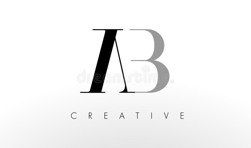 Uma letra Logo Design de B O AB criativo rotula o ícone ilustração do vetor