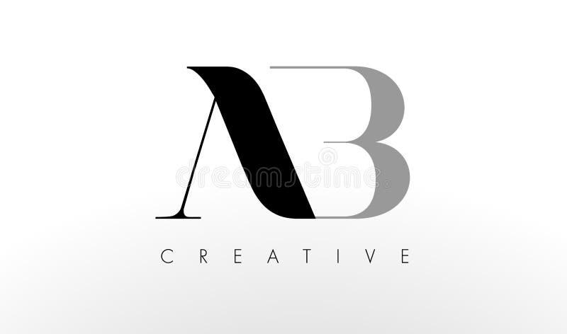 Uma letra Logo Design de B O AB criativo rotula o ícone ilustração royalty free
