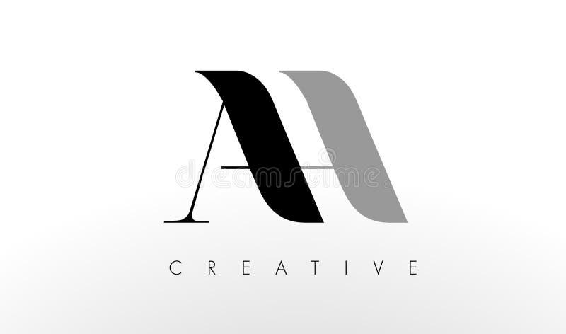 Uma letra Logo Design de H AH ícone criativo das letras ilustração royalty free