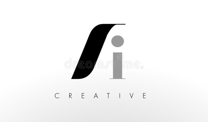 Uma letra Logo Design de I O AI criativo rotula o ícone ilustração do vetor
