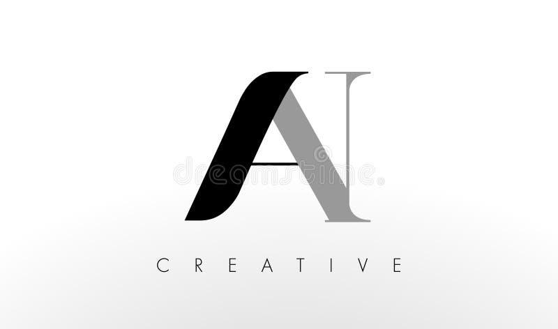 Uma letra Logo Design de N Criativo um ícone das letras ilustração royalty free