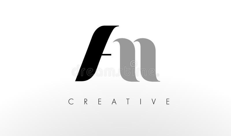 Uma letra Logo Design de N Criativo um ícone das letras ilustração stock