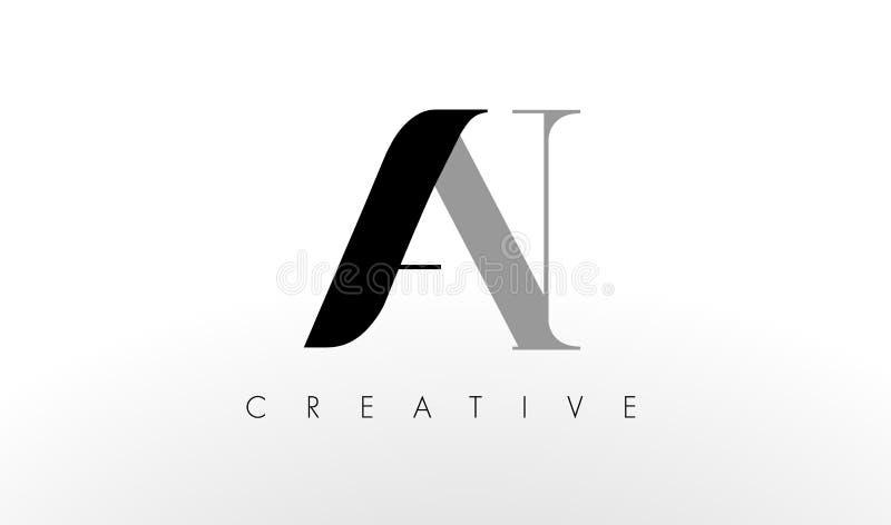Uma letra Logo Design de N Criativo um ícone das letras ilustração do vetor
