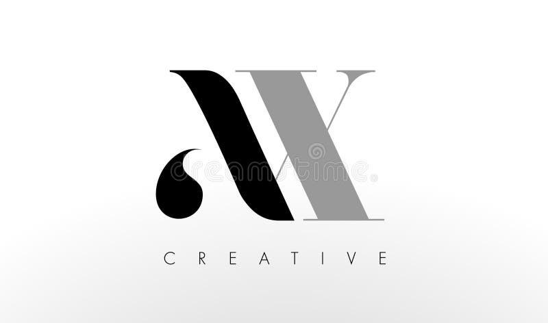 Uma letra Logo Design de X O MACHADO criativo rotula o ícone ilustração stock