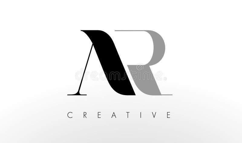 Uma letra Logo Design de R A AR criativa rotula o ícone ilustração do vetor