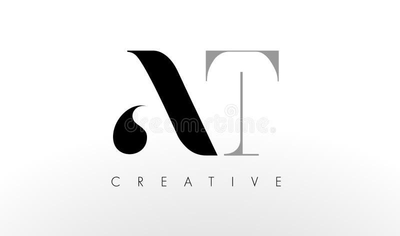 Uma letra Logo Design de T Criativo no ícone das letras ilustração royalty free