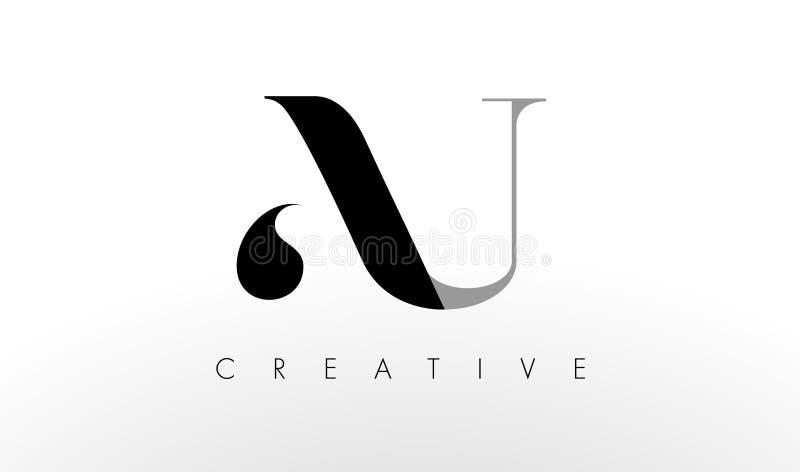 Uma letra Logo Design de U O AU criativo rotula o ícone ilustração royalty free