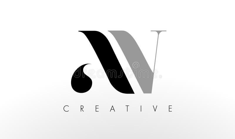 Uma letra Logo Design de V O avoirdupois criativo rotula o ícone ilustração royalty free