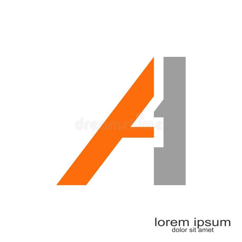 Uma letra Logo Design ilustração royalty free