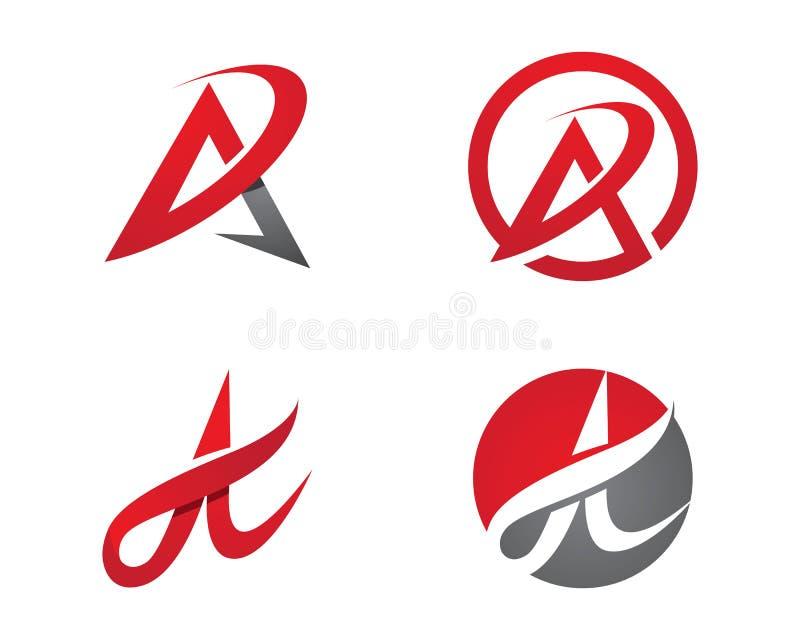 Uma letra Logo Template ilustração do vetor