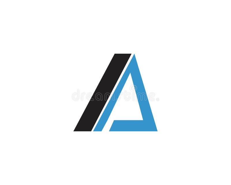 Uma letra Logo Template ilustração royalty free