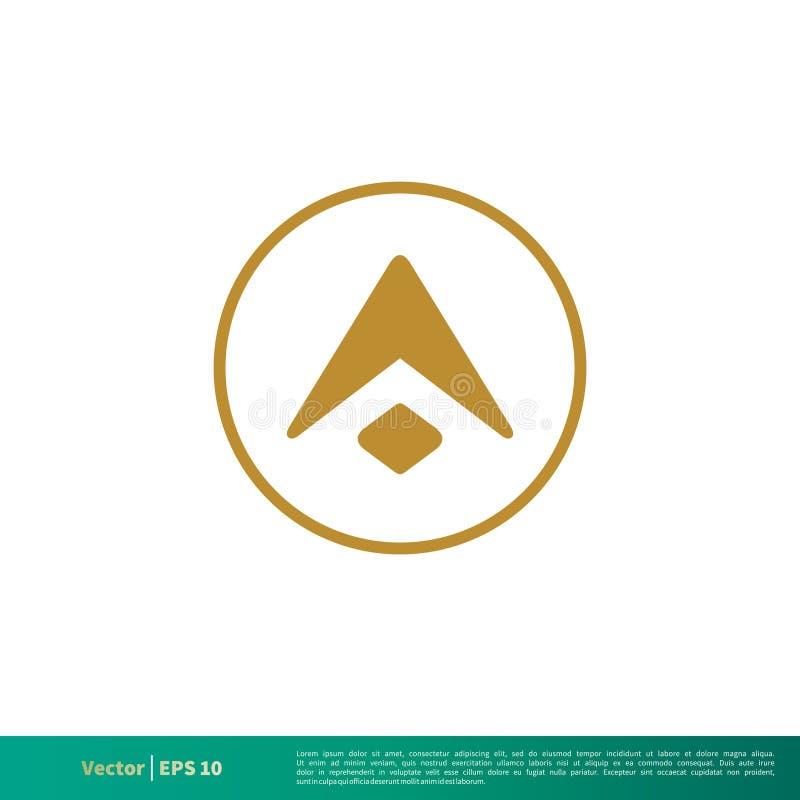 Uma letra no vetor Logo Template Illustration Design do ícone do círculo Vetor EPS 10 ilustração stock