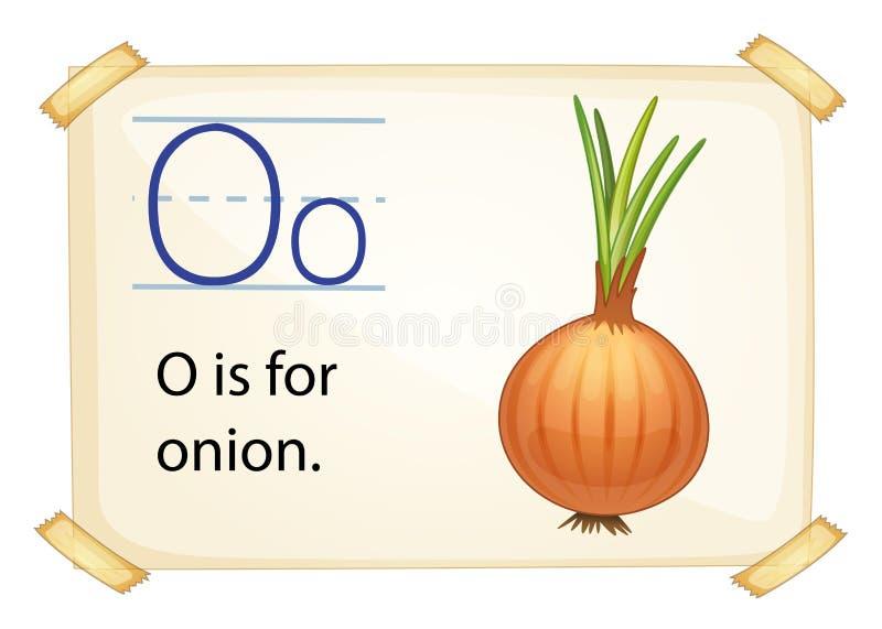 Uma letra O para a cebola ilustração royalty free