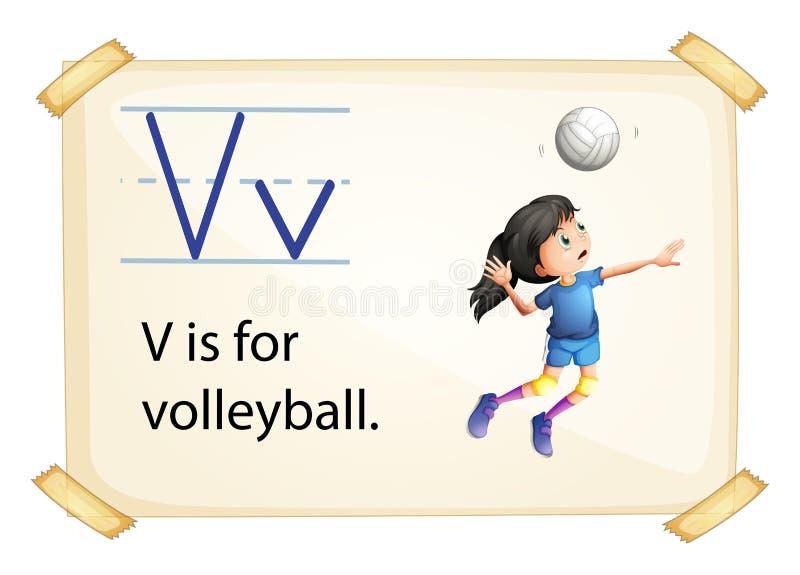 Uma letra V para o voleibol ilustração royalty free