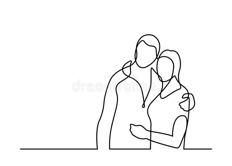 Uma linha par 2 ilustração royalty free